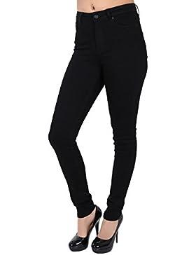 Vero Moda Nine High Waist Slim Fit Jeans Schwarz