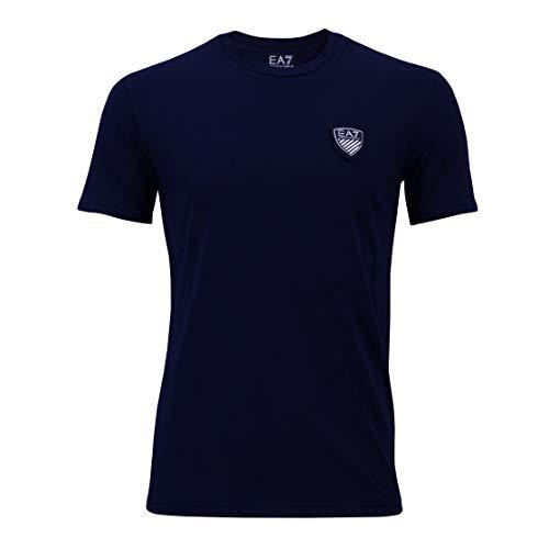 38df95b0f Camiseta Emporio Armani EA7 T-Shirt Para Hombre 3YPTL7, Cuello Redondo,  Azul (