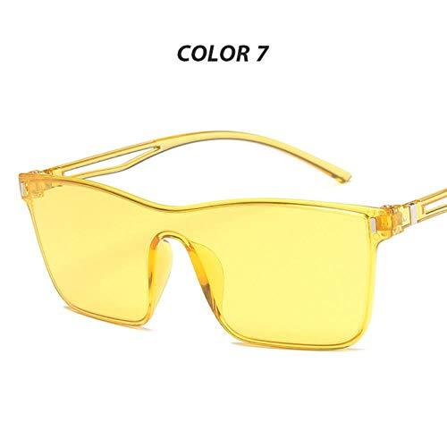 Loving Bird One Piece Übergroße Sonnenbrille Frauen Sommer Rosa Sonnenbrille Big Shades für Frauen Bunte Brille Markendesigner Eyewear Oculos, Farbe 7