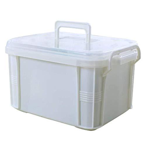 GOXJNG Medizin Box Set Durable Medizin-Kasten-Behälter Erste-Hilfe-Kit Fall Drug Tablettenbox Apotheke for Home Reise Camping Büro und am Arbeitsplatz (Size : X-Large)