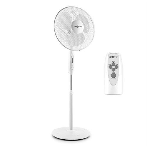 oneConcept White Blizzard RC 3G Standventilator Standlüfter (Fernbedienung, weiße Rotorblätter, Timer, Oszillations-Schwenkfunktion, 3 Geschwindigkeitsstufen) weiß