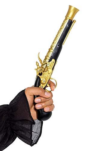 Halloweenia - Kostüm Accessoires Zubehörrealistische Vintage Herren Piraten Donnerbüchse Pistole Revolver Waffe Knarre , perfekt für Karneval, Fasching und Fastnacht, Gold