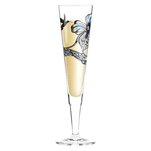 Ritzenhoff 3260003 Champus White Label Design Champagner-/Sekt Glas mit Serviette, Olaf Hajek, Frühjahr 2015