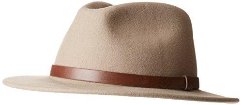 Brixton Messer Fedora Headwear, Light tan, XL (Herren Fedora-hut Beige)