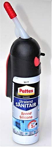 Pattex Speed Silikon weiß Spender 100 ml f.Sanitär Bad Dusche WC Küche