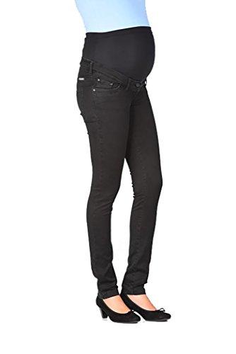 Christoff Schwangerschaftsjeans Umstandshose Straight Leg Five-Pocket-Jeans - tiefer Bund - elastisches weiches Bauchband - 136/71/9 - schwarz - Gr.40 (Pocket Leg Jean Skinny)