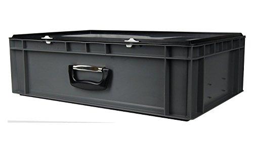 DJ Mischpult-Flightcase - Hardcase, grau, mit Koffergriff, Abm. 600x400x175 mm (LxBxH), 33 Liter Nutzvolumen