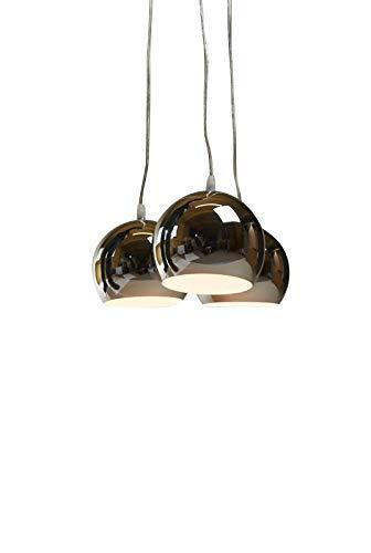 Hängeleuchte Trias chrom/Farbe Chrom, Kupfer, Schwarz oder Bunt (Pendelleuchte Hängelampe Deckenlampe Pendellampe Deckenleuchte) - Kleine Hängeleuchte