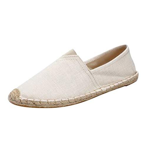 Welle Flach Frauen Schuhe (Lucky Mall Unisex Mode Einfarbige Rutschfeste Segeltuchschuhe, Männer Flache Müßiggänger Damen Freizeitschuhe Sommer Atmungsaktives Lässige Schuhe Strandschuhe)
