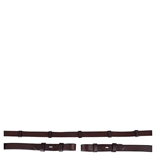 BR Gurtzügel, Zaumhaken, 19 mm (Warmblut, braun - silber)