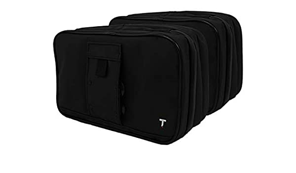 c2297450d946 Taskin Xpress Compact Hanging Toiletry Bag w Built-in 4 Suction Cups - Twin  Pack  Amazon.co.uk  Clothing