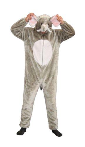 Foxxeo Premium Plsch Elefanten Kostm fr Erwachsene Damen und Herren Tierkostm Overall Jumpsuit Grße M