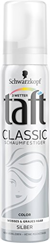 Schwarzkopf 3 Wetter Taft Classic Schaumfestiger Color Silber, 5er Pack (5 x 100 ml)