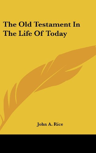The Old Testament in the Life of Today