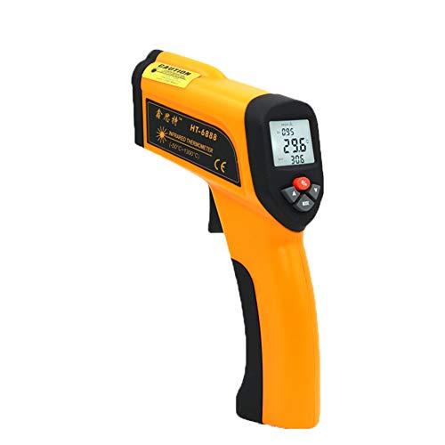 Jklnm Digital Infrarot Thermometer IR Pyrometer Berührungslos Temperaturmessgerät Temperaturmesser Einstellbare Emissivität LCD Beleuchtung -50°C~1300°C(-58°F~2372°F)