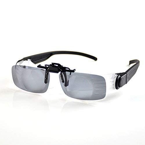 TCZ1557 Professionelle Angelbrille, Tragbares Fernglas, Brille,Gray