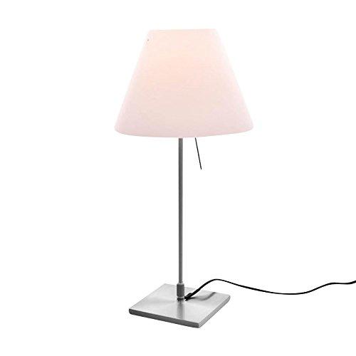 Luceplan Costanzina - Lampada da tavolo con piedistallo Design alluminio/alluminio/bianco sfumato