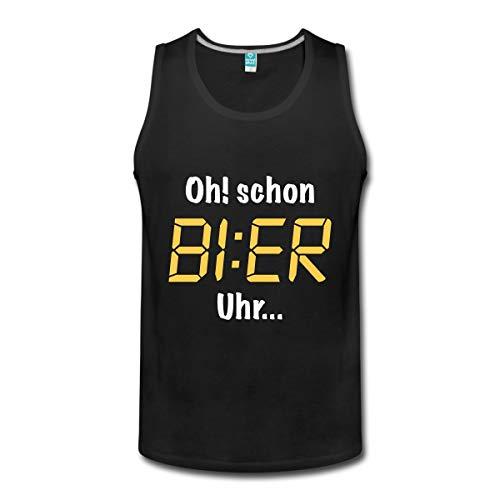 Spreadshirt Oh! Schon Bier Uhr. Männer Premium Tank Top, 5XL, Schwarz