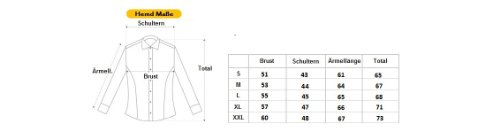 MERISH Hemd Slim Fit 5 Farben Größen S-XXL 02 Dunkelblau