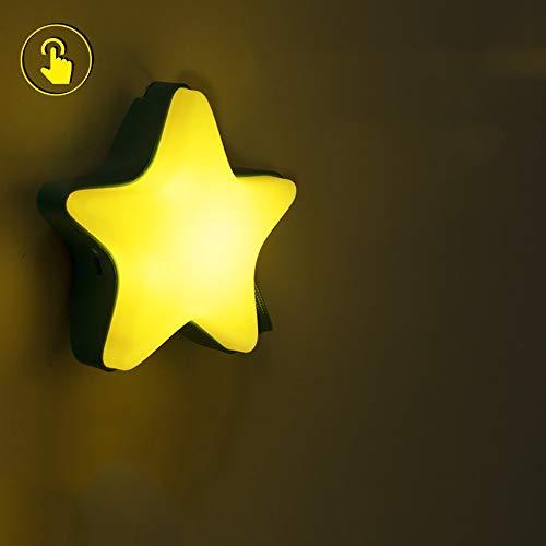 Accueil Télécommande Télécommande Lumière De Nuit Nouvelle Lampe De Chevet Pour Enfants Étranges Rêve Lumière Économiseur D'énergie De Nuit Cadeau (Couleur : Jaune, edition : Touch version)