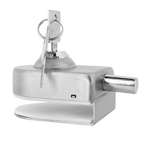 31mNJO4aN%2BL - Cerradura de Puerta de Cristal, Cerradura de la Puerta de Acero Inoxidable Vidrio Pestillo para el Hogar Accesorios de Baño