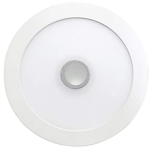 SevenOn LED 64405 Downlight LED SMD extraplano con altavoz redondo, blanco, 18+4W,...