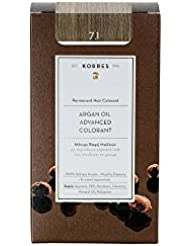 Korres Coloration Permanente Huile d'Argan Blond Cendré 7.1