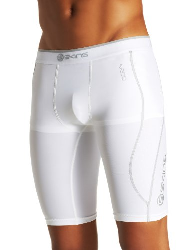 Skins Herren Mens 1/2 Tights A200, White, L, B60005002L
