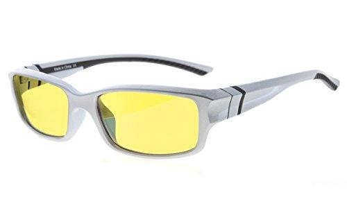 Eyekepper 94% Blau licht blockierende Computer brille, gelb getönte Linse (Klar/schwarz Arm +0.00)