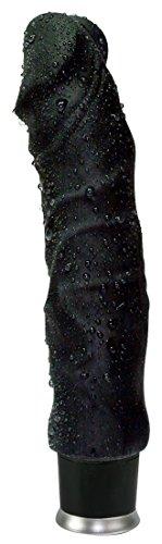 Orion 560278 Nature Skin Vibrator in Penisform, schwarz,  20,5 cm lang, Ø 4,5 cm inkl. Talkumpuder und Gleitmittel