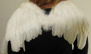 Preisvergleich Produktbild Engelsflügel Angelwings Flügel weiss 62x56cm Weihnachten