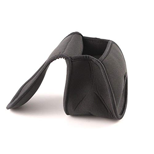 Angelrolle Tasche Angelrolle Schutzhülle Neopren Spinning Reel Case Karpfenangeltasche (Color : Black)