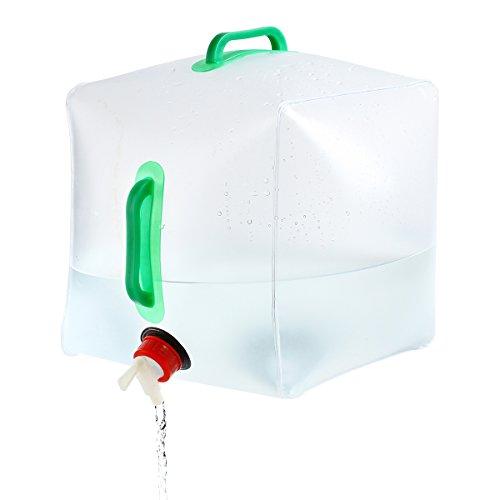 URPRO Wasserkanister faltbar, 5 Gallonen / 10L Portable PVC Wassertragetasche für Outdoor Wasserlagerung, Camping Wandern Klettern Backpacking OW-S1004
