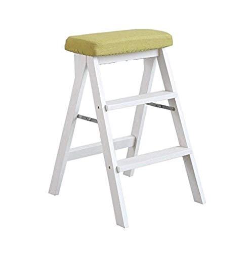 WOYQS Holz Utility Step multifunktionale kleine Leiter Klappleiter Hocker Haushaltsstühle Tritthocker Tragbare Verwendung (Color : C) -