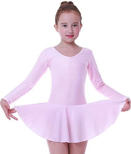 Seawhisper Tanzkleid Mädchen Balettkleider Balletttrikot Kinder Ballett Röckchen Rosa (Tanz Kostüm Preiswert)