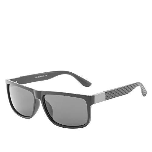 LKVNHP New Hohe Qualität Übergroße Herren Sonnenbrille Polarisierte Driving Sonnenbrille Für Mann 152Mm Schwarz Braun Anti Reflection Uv400 HerrenbrilleMattschwarz