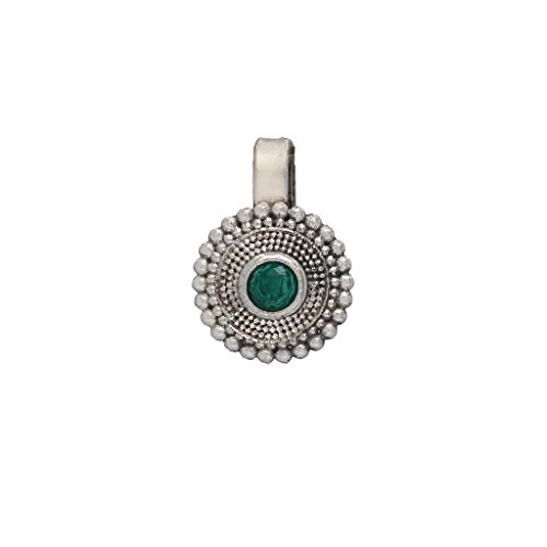 Jaipur Mart Nose Ring for Women (Silver)(NSP1GRN)
