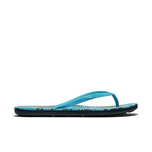Nike Wmns Solarsoft Thong 2 Print, Tongs Femme Bleu - Azul (Gamma Blue / White-Black)
