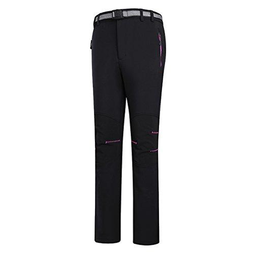 emansmoer Femme Coupe-Vent Doublé Polaire Pantalon Softshell Imperméable Outdoor Sport Randonnée Escalade Pantalon