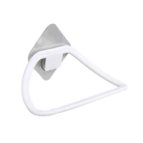 Kunststoff Handtuchring Wand Bad Handtuchhalter Selbstklebende Handtuchhalter für Badezimmer Küche Toilette (Weiß) -