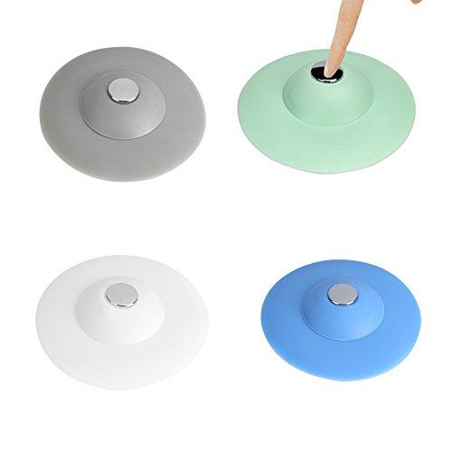 quici 4Universal Silikon Waschbeckenstöpsel Badewanne Stopper Ablauf für Home Küche Badezimmer Waschküche