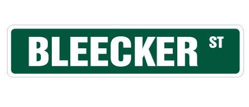 Deko Schilder mit Sprüchen Bleecker Street Sign New York City Manhattan Geschenk Metall Aluminium Wand Sicherheit Schild