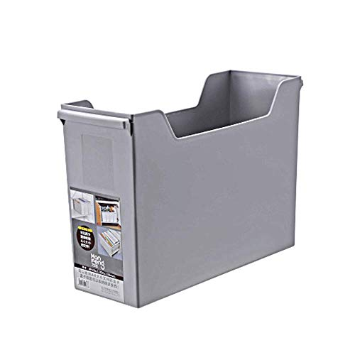 DaFei Lagerplätze, große leichte robuste tragbare Desktop-Kunststoff-Datei-Aufbewahrungsbox (Farbe : SCHWARZ, größe : Large)