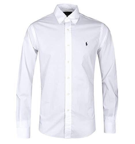 Polo ralph lauren camicia slim fit (l, bianco)