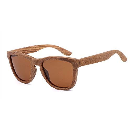 Lbyhning Handgefertigte Bambus-Sonnenbrille, Outdoor-Sportbrille, polarisiert, UV400-beständig, strahlenfest, für Männer und Fraue