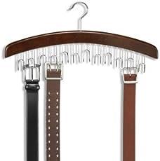 Mayatra'S The Ultimate Wooden Belt Hanger Timber - Also For Ties, Jewellery, Accessories Etc.