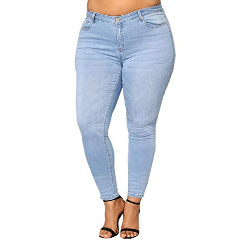 ITISME Jeanshosen Women Plus Size Ripped Stretch Slim Denim Skinny Jeans Pants High Waist TrousersHerren Designer Chino Stoff Hose inkl. Gürtel Regular Fit
