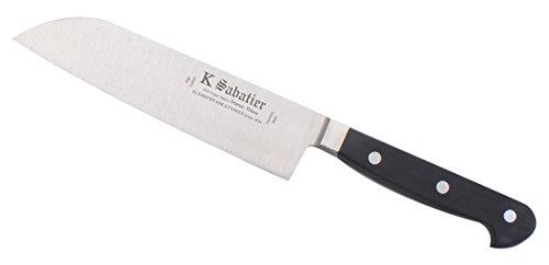 K Sabatier - Cuisine Orientale 17 Cm K Sabatier - Gamme Proxus - Acier Inoxydable - Manche Noir - 100% Forge - Entièrement Fabrique En France