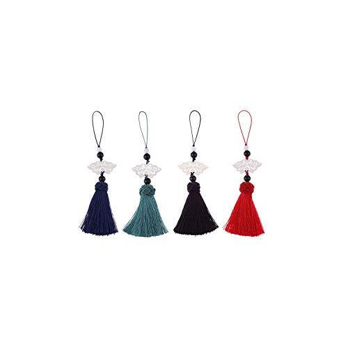 Handgemachte chinesische Knoten Quaste Mit Jade Dekor Diy Bag Schlüsselanhänger Zubehör, L - Kimono Wand
