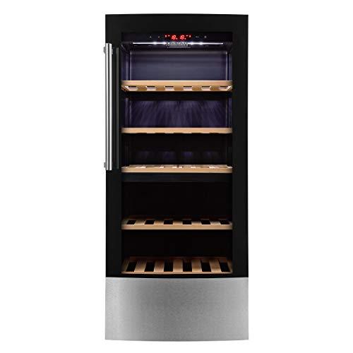 MEDION MD 37104 Weinkühlschrank (181L Fassungsvermögen, LED-Display, regulierbare Temperatur 5°C-20°C, 40 dB) schwarz